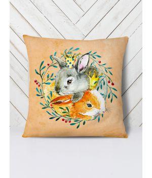 Подушка Подруга кролики