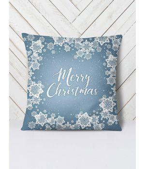 Подушка Новый год снежинки