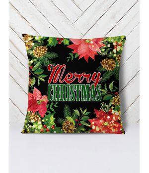 Подушка Новый год цветы