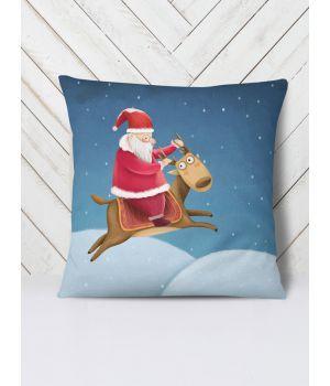 Подушка Дед Мороз на олене