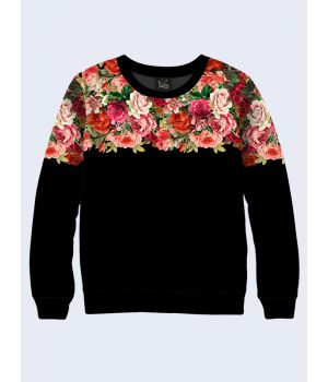 Жіночий світшот Вінтажні квіти