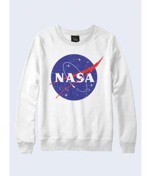 Мужской свитшот NASA космос белый