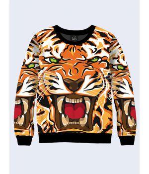 Чоловічий світшот Розлючений тигр арт