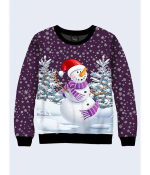 Чоловічий світшот Cheerful snowman