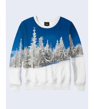 Чоловічий світшот Snow-white winter forest