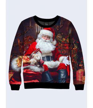 Чоловічий світшот Санта Клауса з подарунками