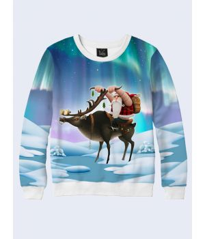 Чоловічий світшот Santa on a deer