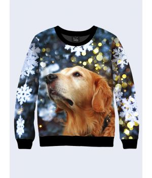 Чоловічий світшот Різдвяна собака