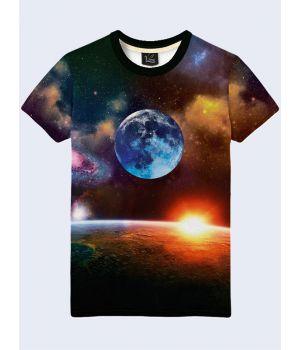 Чоловіча футболка Earth and Moon, 67452