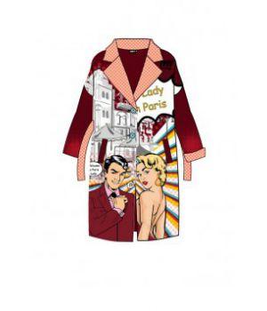 Женское кашемировое пальто с принтом 57032