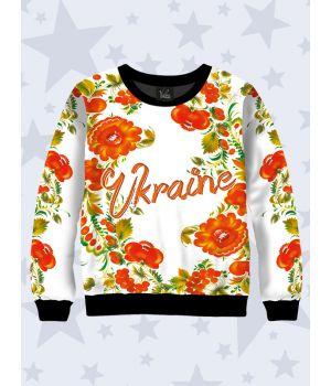 Детский свитшот Україна квіти
