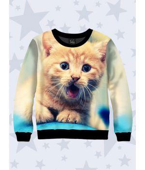 Детский свитшот Зевающий котенок