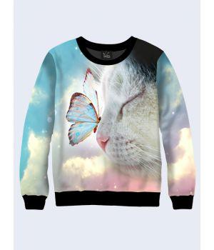 Світшот жіночий Котик з метеликом