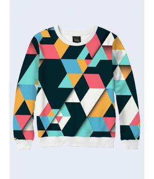 Свитшот Цветные треугольники