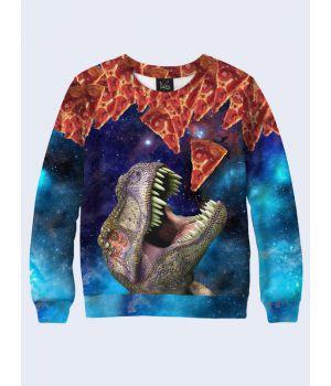 Свитшот Tyrannosaurus and pizza