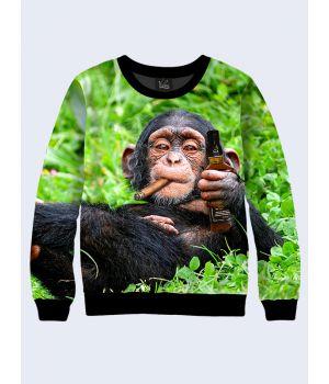 Свитшот Шимпанзе с виски