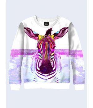 Свитшот Разноцветная зебра