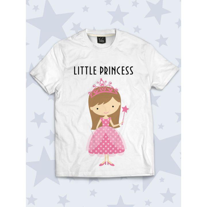 3D Детская Футболка Маленькая принцесса