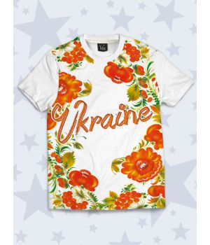 Футболка Україна квіти