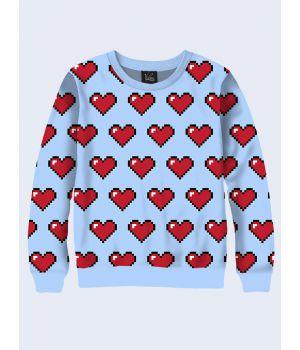 Свитшот 8-битные сердца