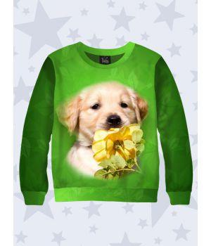 Свитшот Собака с розой