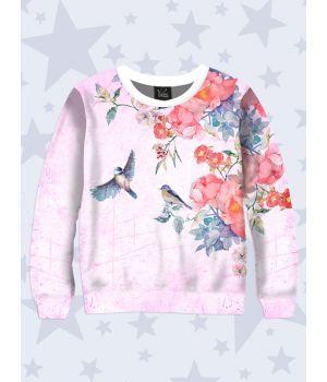 Свитшот Птицы на цветах