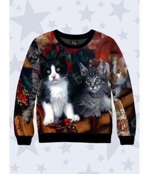 Свитшот Рождественские коты