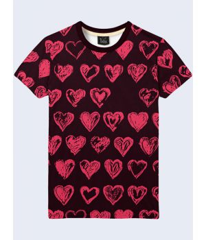 Футболка Розовые сердечки