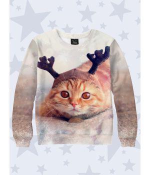 Свитшот Рыжий новогодний кот