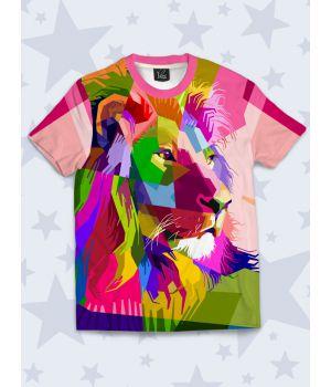Футболка Цветной лев