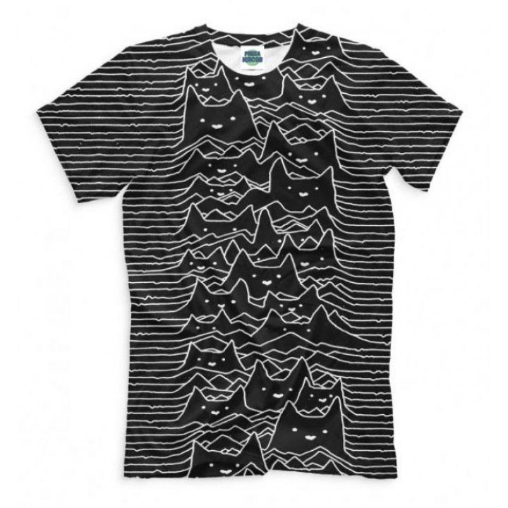 Мужская Стильная футболки с принтом Cats Division