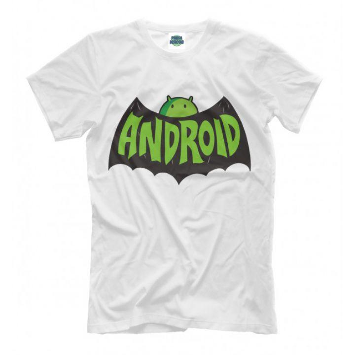 Мужская Стильная футболки с принтом Android Batman