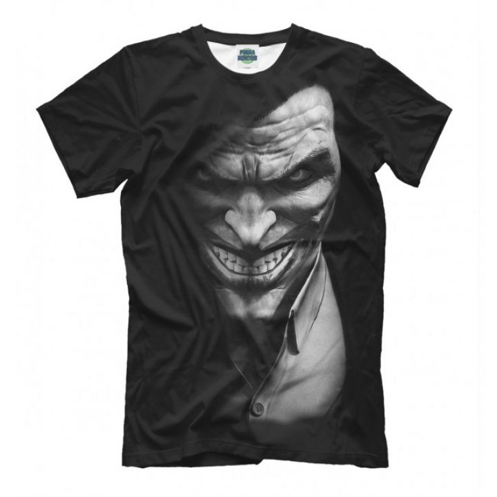 Мужская Прикольная футболка с рисунком Joker black