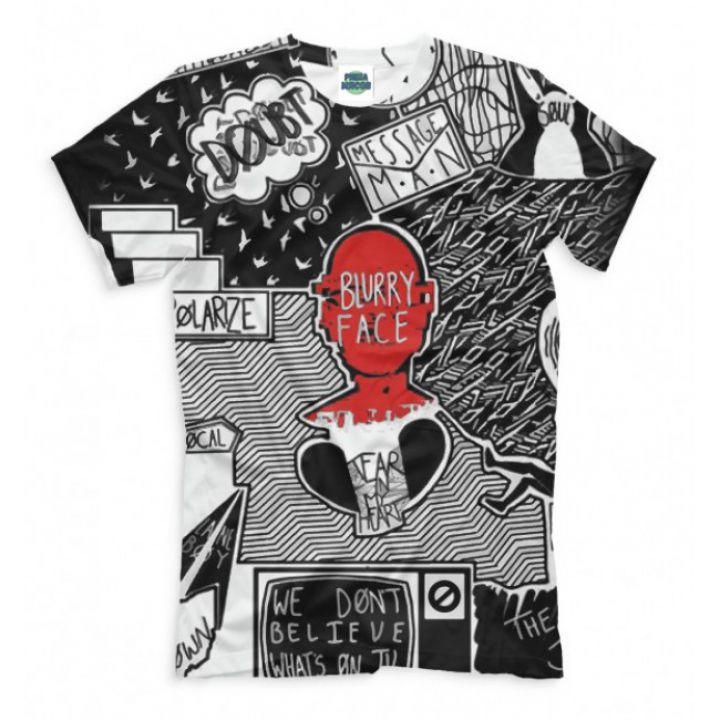 Мужская Стильная футболка с рисунком blurry face Twenty One Pilots