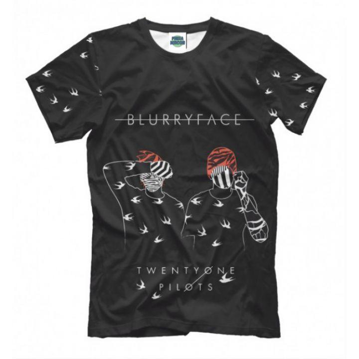 Мужская Стильная футболка с рисункомblurryface & birds Twenty One Pilots