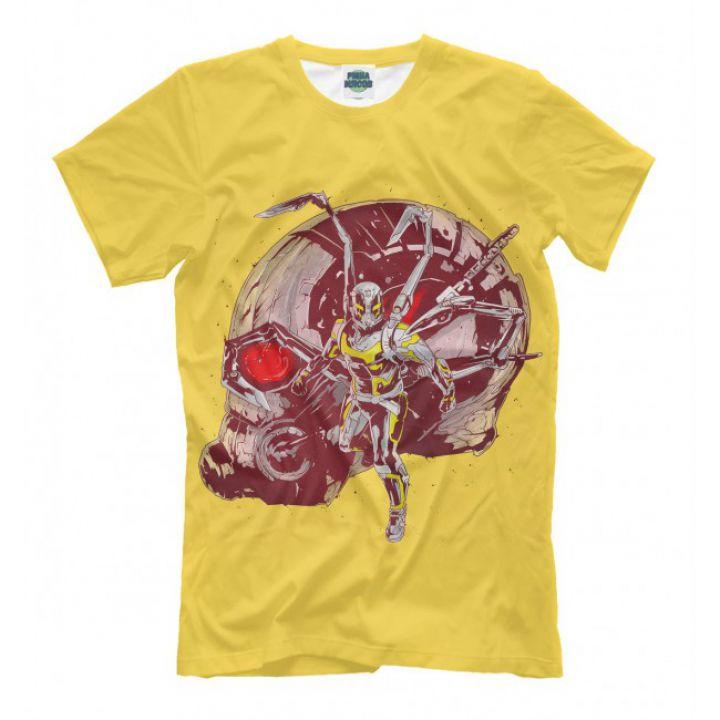 Мужская Прикольная футболка с рисунком ANT MAN