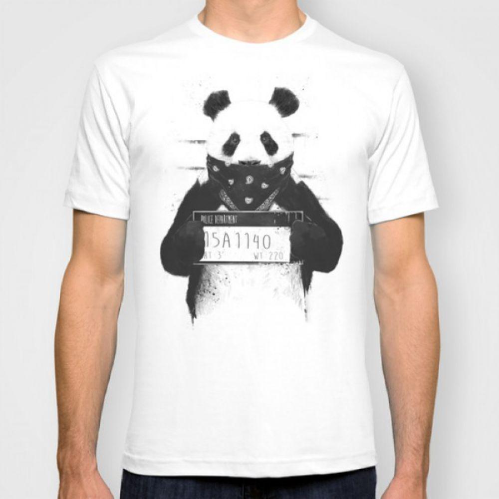 16a3b3c70b0e6 Мужская Футболка Bad panda белая - 3D футболки мужские купить в ...