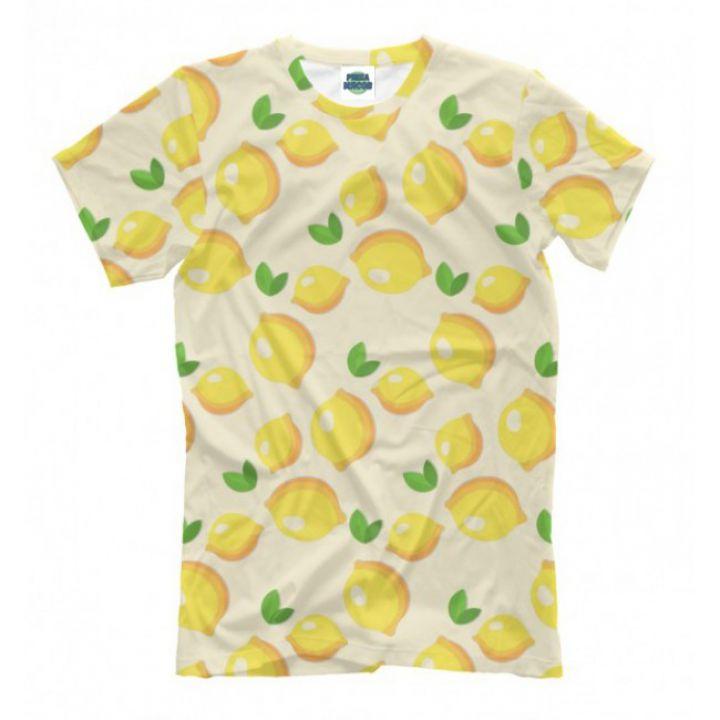 Мужская Прикольная футболка с рисунком Citrus