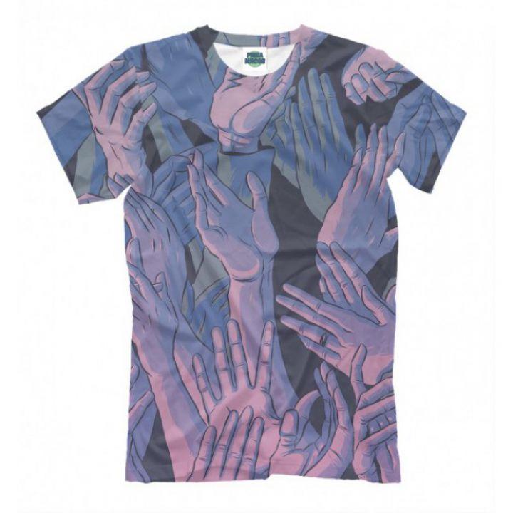 Мужская Прикольная футболка с рисунком Arms