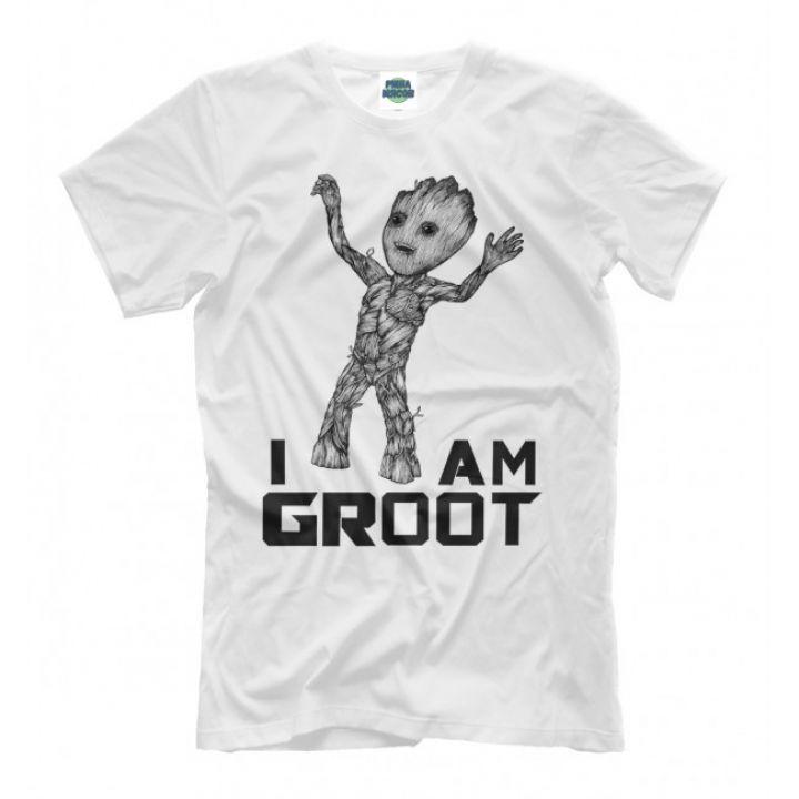 Мужская Прикольная футболка с рисунком BabyGroot