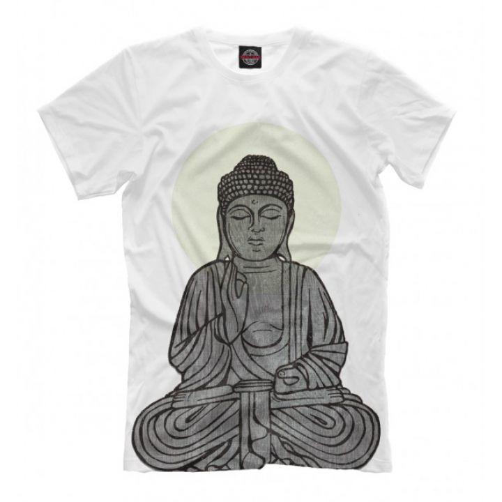 Мужская Прикольная футболка с рисунком Buddha Shakyamuni