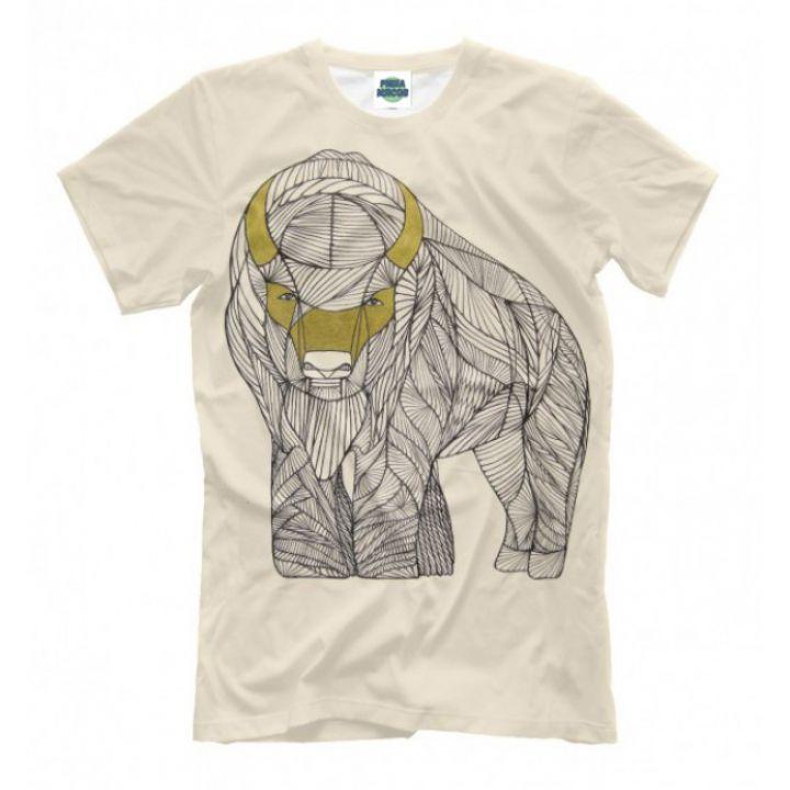 Мужская Стильная футболки с принтом Buffalo