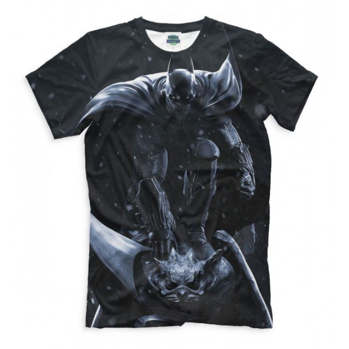Мужская Прикольная футболка с рисунком Batman 1