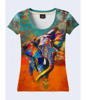 Футболка Colored elephant