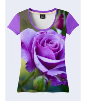 Футболка Фиолетовая роза