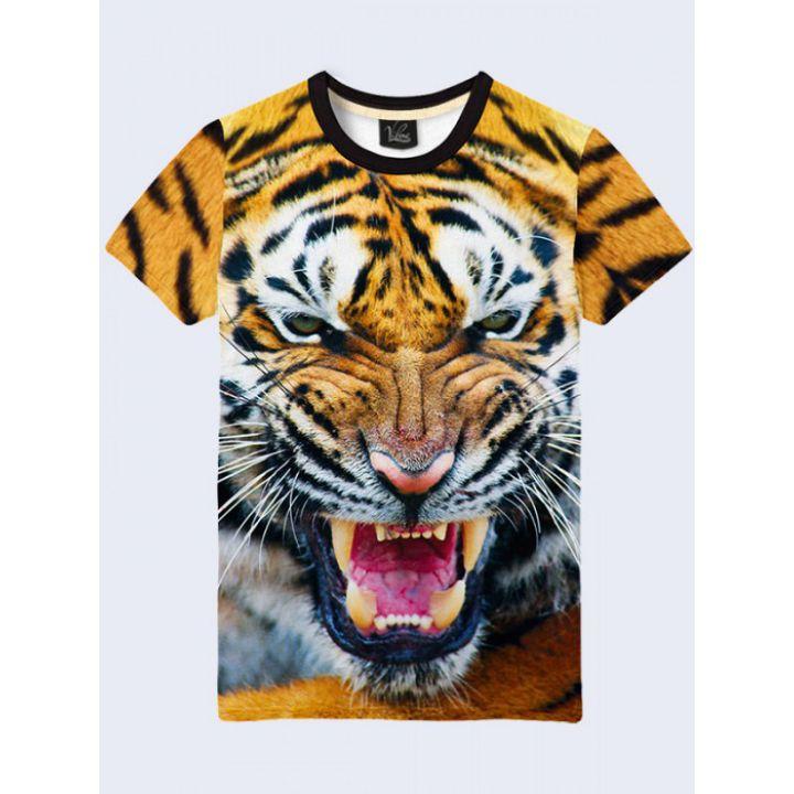 Футболка мужская Оскал тигра