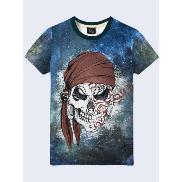 3D-футболка чоловіча Череп пірата