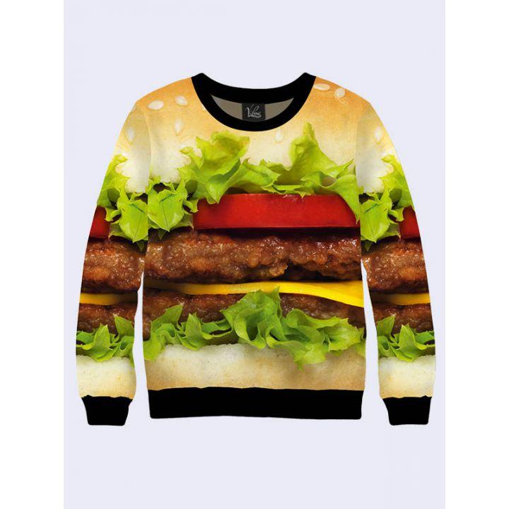"Жіночий світшот ""Гамбургер"" беж"
