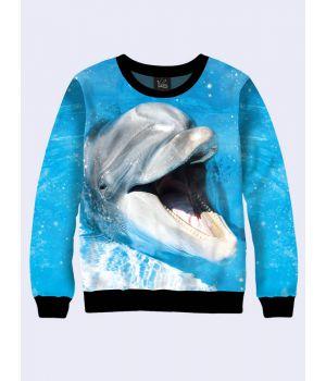 """Світшот жіночий """"Дельфінчик"""" блакитний"""