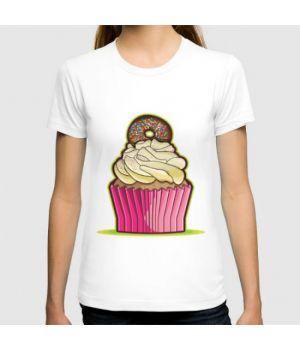 Футболка Cupcake 1 (кекс розовый с пончиком)
